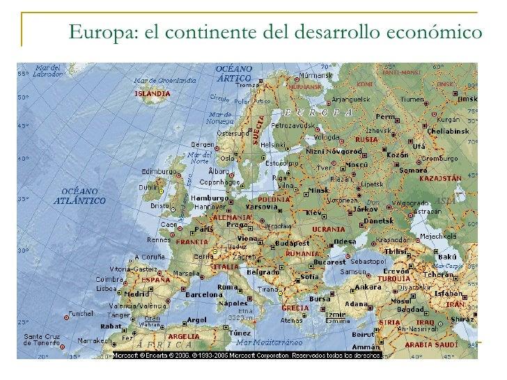 Europa: el continente del desarrollo económico