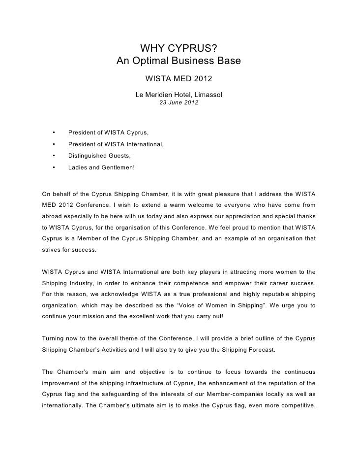 WHY CYPRUS?                          An Optimal Business Base                                     WISTA MED 2012          ...