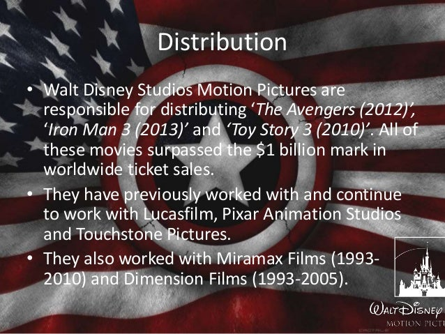 Distribution • Walt Disney Studios Motion Pictures are responsible for distributing 'The Avengers (2012)', 'Iron Man 3 (20...