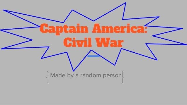 Captain America: Civil War Made by a random person