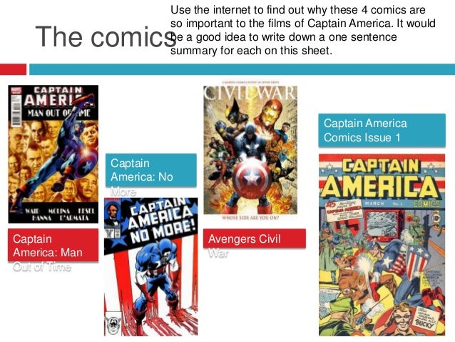 Captain America case study for WJEC GCSE Film Studies paper 1 Slide 3