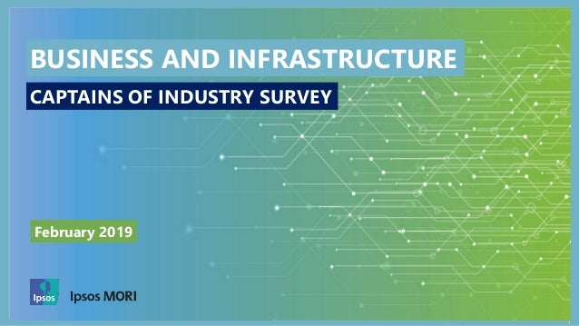 1 February 2019 BUSINESS AND INFRASTRUCTURE CAPTAINS OF INDUSTRY SURVEY