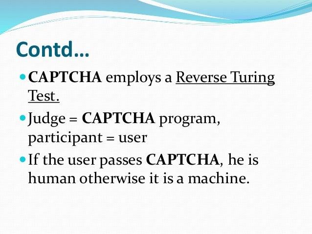 Captcha and Recaptcha Seminar
