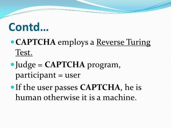 Captcha seminar