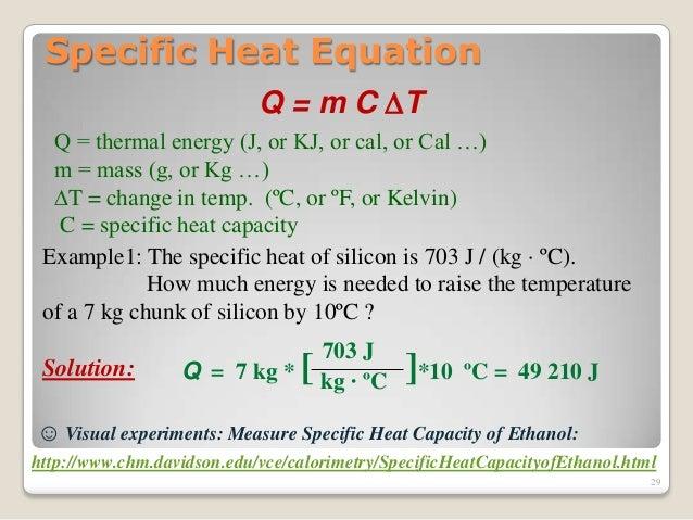 calorimetry equation
