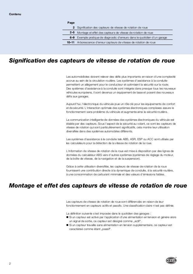 2 Signification des capteurs de vitesse de rotation de roue Les automobilistes doivent relever des défis plus importants e...