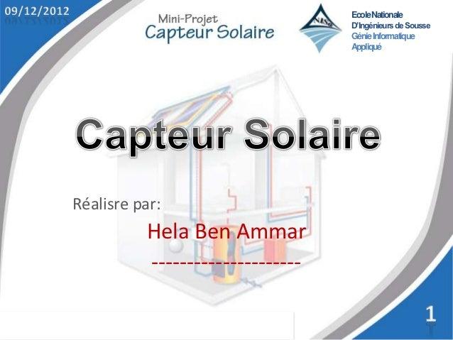 Ecole Nationale                                  D'Ingénieurs de Sousse                                  Génie Informatiqu...