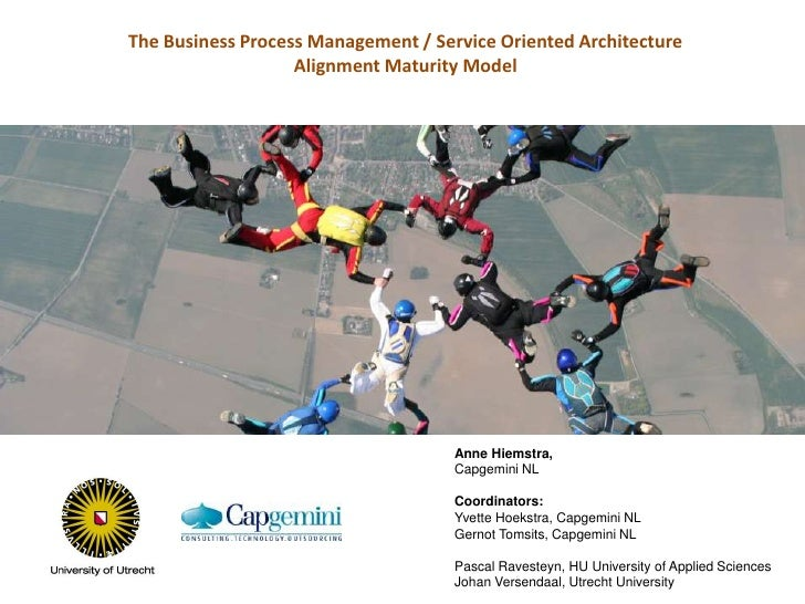 The Business Process Management / Service Oriented Architecture<br />Alignment Maturity Model<br />Anne Hiemstra, <br />Ca...