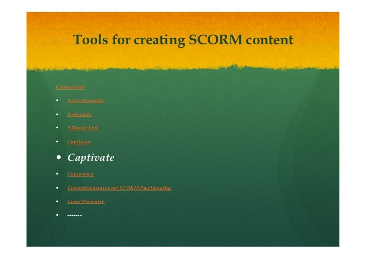 Creating And Using Scorm Based Adobe Captivate Tutorials In Moodle