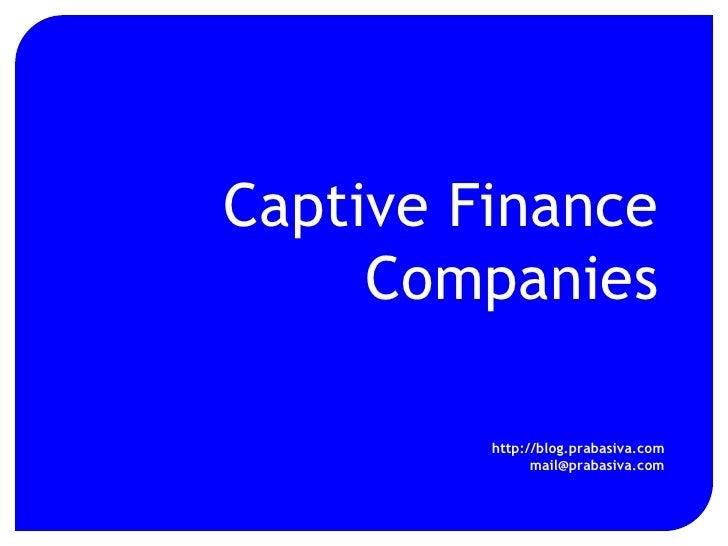 Captive Finance Companies
