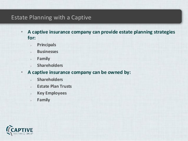 831b Captive Insurance Planning and Tax Issues