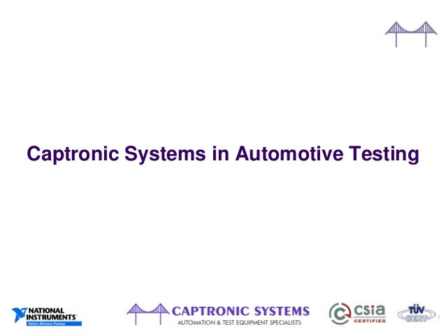 Captronic Systems in Automotive Testing