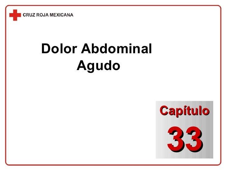 Dolor Abdominal  Agudo Capítulo 33