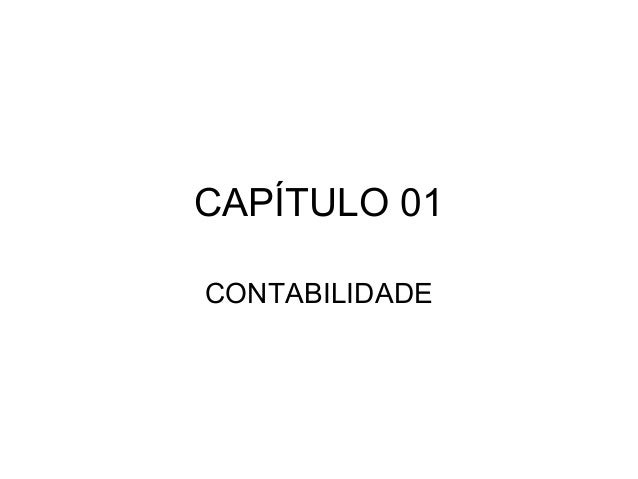 CAPÍTULO 01 CONTABILIDADE