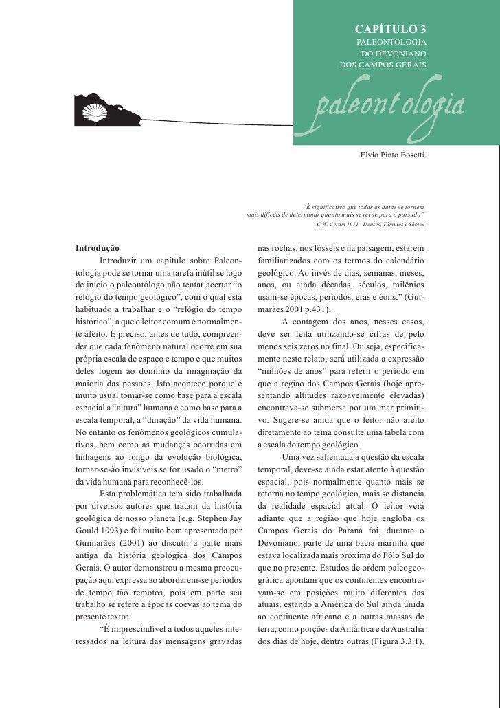 CAPÍTULO 3                                                                                         PALEONTOLOGIA          ...