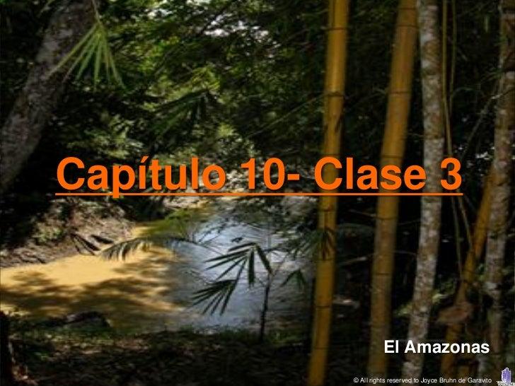 Capítulo 10- Clase 3                        El Amazonas              © All rights reserved to Joyce Bruhn de Garavito