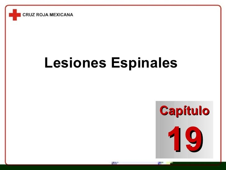Lesiones Espinales Capítulo 19