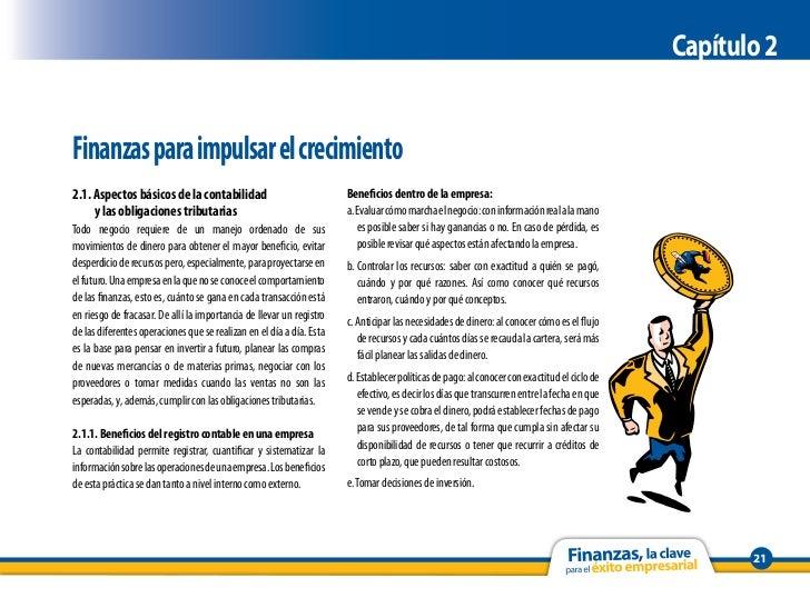 Capítulo 2Finanzas para impulsar el crecimiento2.1. Aspectos básicos de la contabilidad                              Benef...