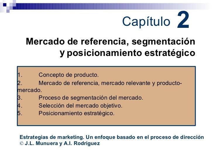 2 Capítulo Mercado y de referencia, segmentación posicionamiento estratégico Estrategias de marketing. Un enfoque basado e...