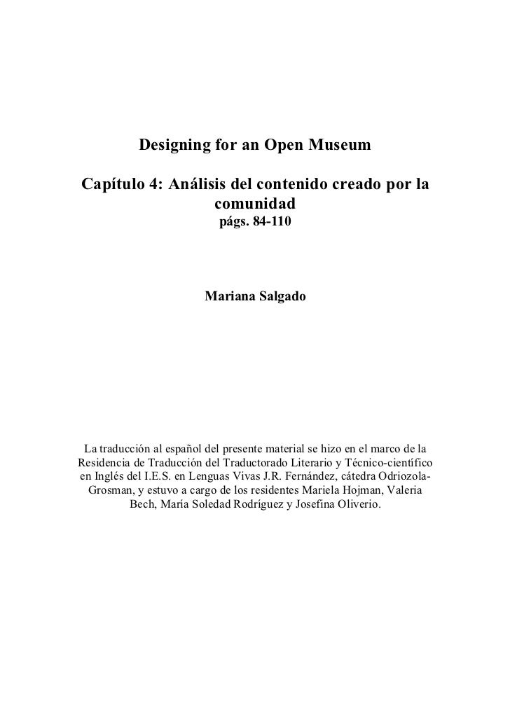 Capítulo 4 Designing for an open museum
