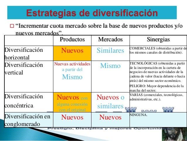 estrategias de diversificacion pdf