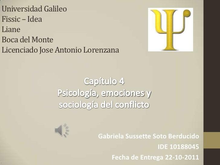 Universidad GalileoFissic – IdeaLianeBoca del MonteLicenciado Jose Antonio Lorenzana                           Gabriela Su...