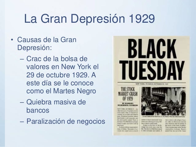 an overview of the black tuesday during the american depression During the four days of the crash more than $100 billion had disappeared from the american how black tuesday helped cause the great depression black tuesday.