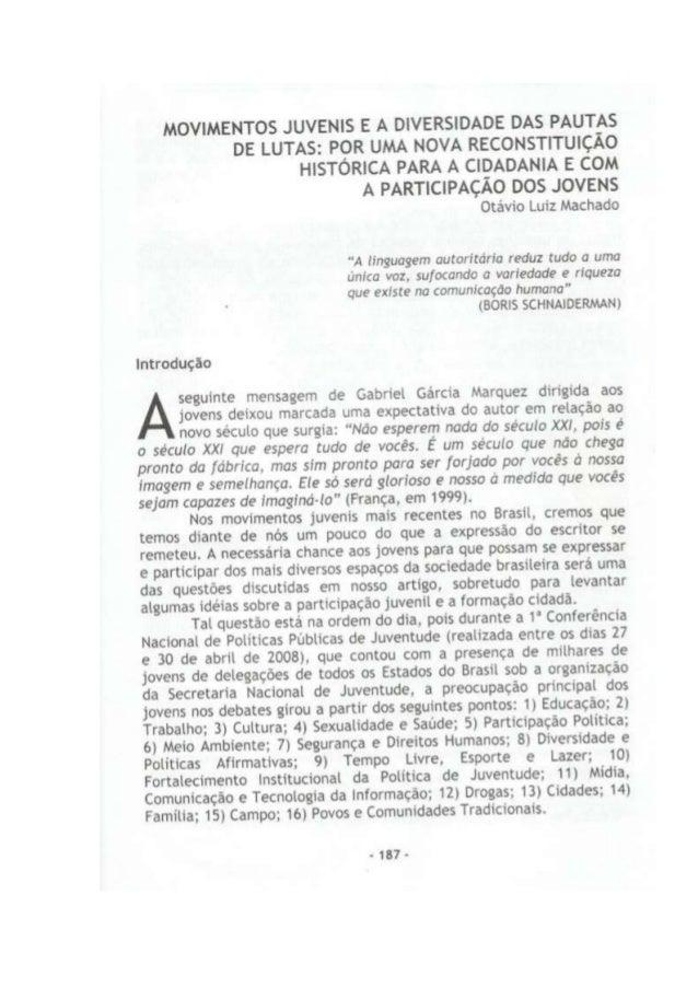 Capítulo de livro publicado movimentos juvenis