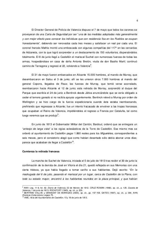 6  El Director General de Policía de Valencia dispuso el 7 de mayo que todos los varones se proveyeran de una Carta de Seg...