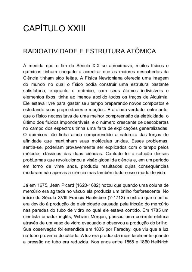 Capítulo Xxiii Radioatividade E Estrutura Atômica