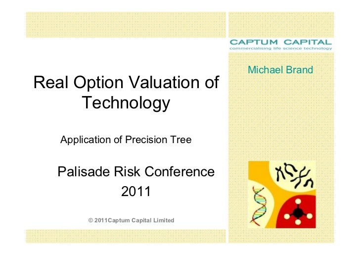 MichaelBrandRealOptionValuationof      Technology   ApplicationofPrecisionTree   PalisadeRiskConference     ...