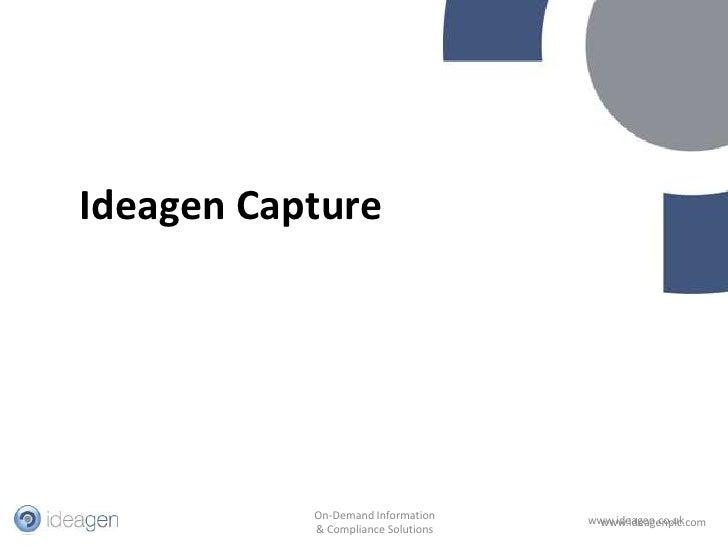 Ideagen Capture<br />