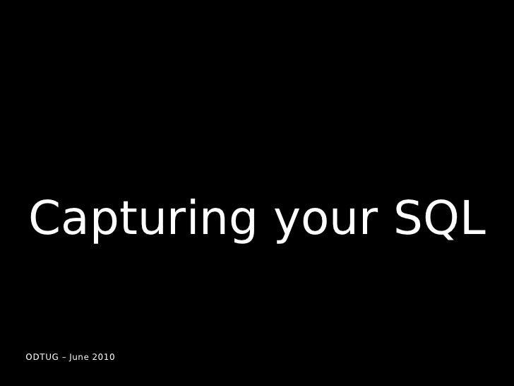 Capturing, Analyzing and Optimizing MySQL Slide 2