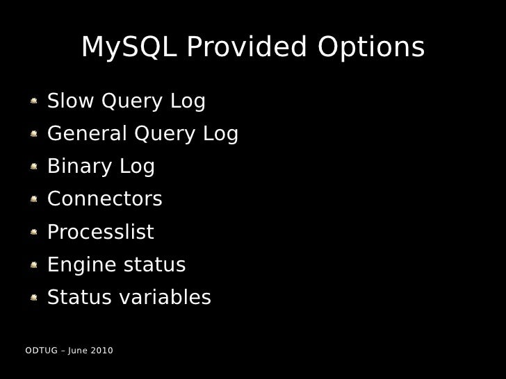 Capturing, Analyzing and Optimizing MySQL Slide 3