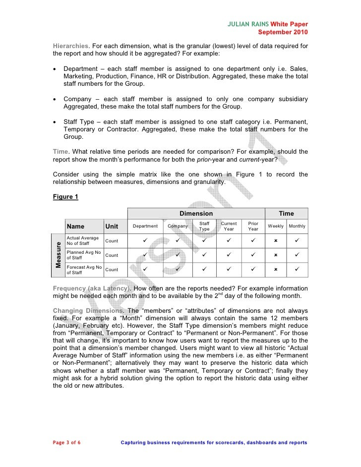 report requirements gathering template - reporting requirements gathering template 28 images