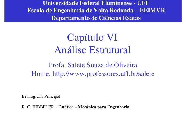 Universidade Federal Fluminense - UFF  Escola de Engenharia de Volta Redonda – EEIMVR           Departamento de Ciências E...