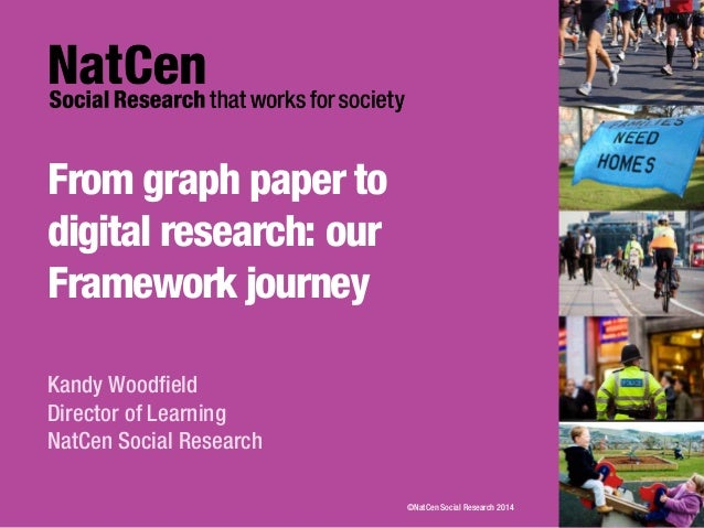 From graph paper to digital research: our Framework journey Kandy Woodfield Director of Learning NatCen Social Research ©N...