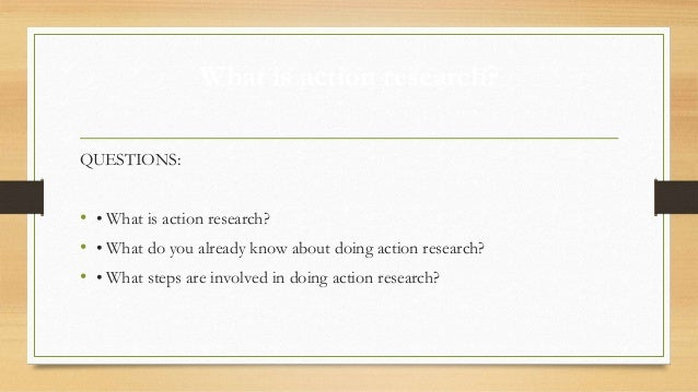 action research paper steps