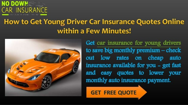 Cheap Monthly Car Insurance For Young Drivers