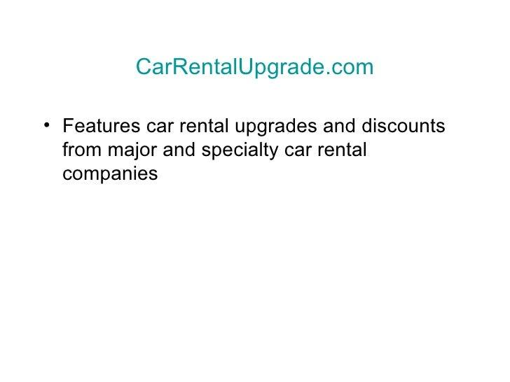 Car Rental Upgrades And Discounts