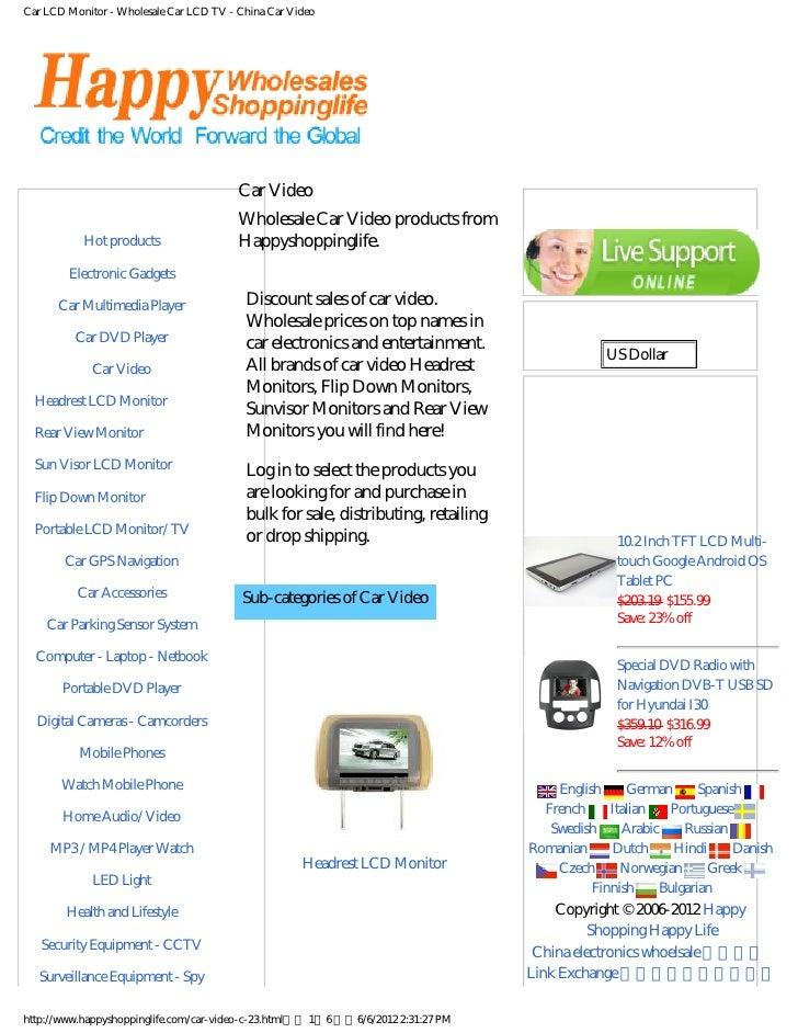 Car LCD Monitor - Wholesale Car LCD TV - China Car Video                                         Car Video             Cat...