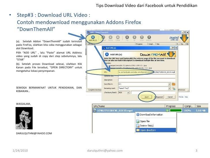 Cara Download Video Facebook Via Browser