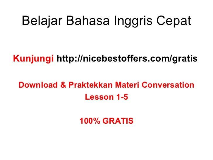 Cara Belajar Conversation Bahasa Inggris Dengan Cepat ...