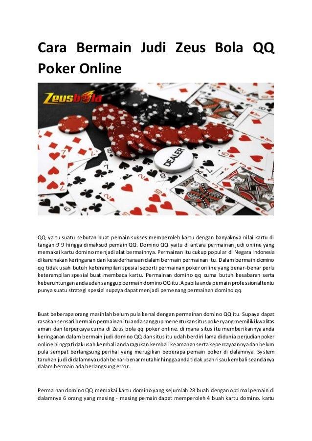 Cara Bermain Judi Zeus Bola Qq Poker Online