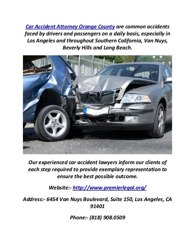 Auto Mobile Car Accident Lawyers Los Angeles & Orange County