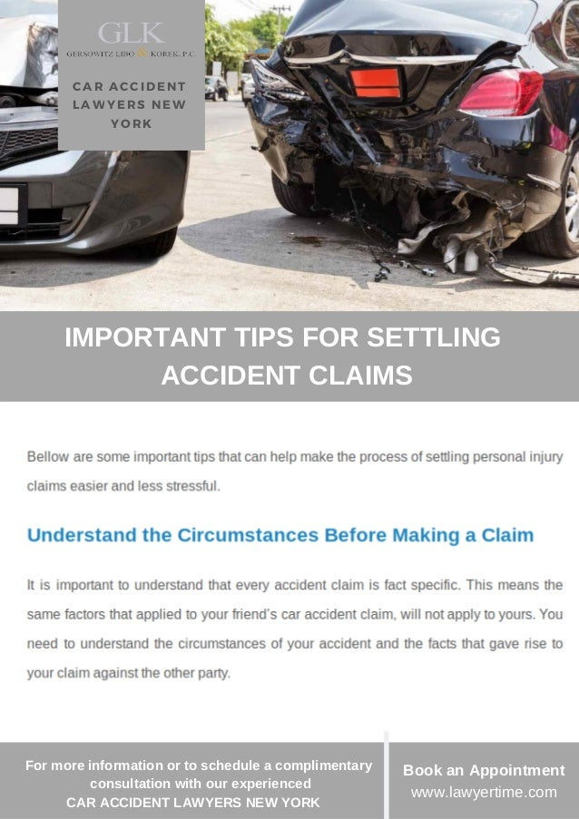 Important Tips for Settling Car Accident Claims - Car