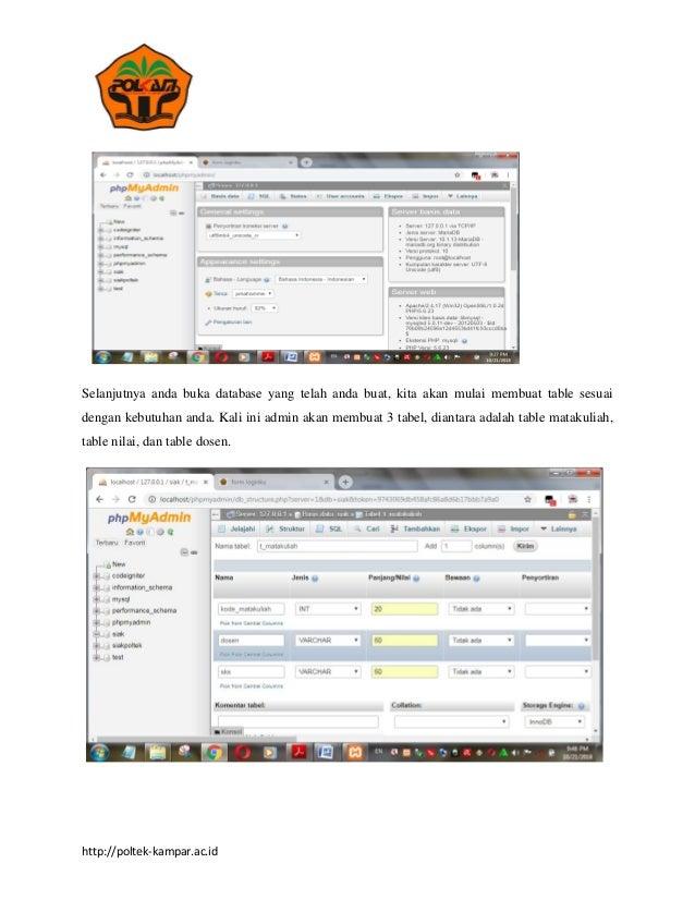 cepat membuat table di dalam database mysql
