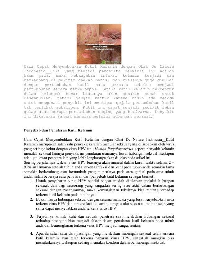 Cara Cepat Menyembuhkan Kutil Kelamin dengan Obat De Nature Indonesia__Jika yang menjadi penderita penyakit ini adalah kau...