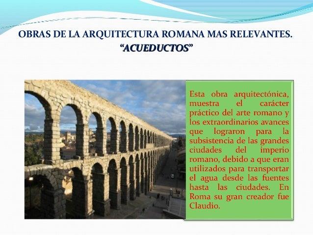 Caracteristicas de la arquitectura romana for Caracteristicas de la arquitectura