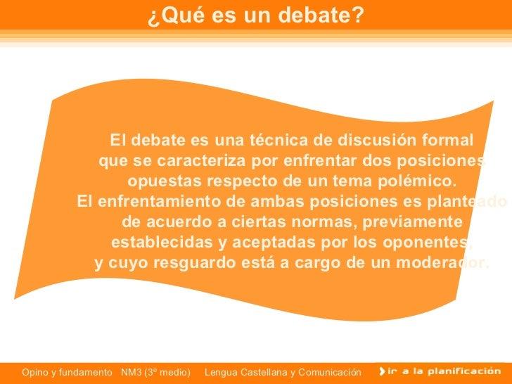 Caracteristicas del debate for Cuales son las caracteristicas de un mural